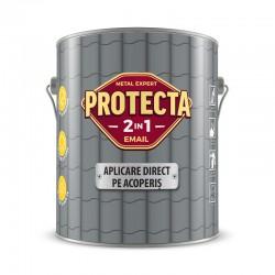 Vopsea alchidica Protecta 2 in 1, aplicare direct pe acoperis, maro ciocolatiu, 4 L 1
