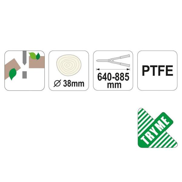 FOARFECE CURBAT PENTRU POMI 640-885MM 2
