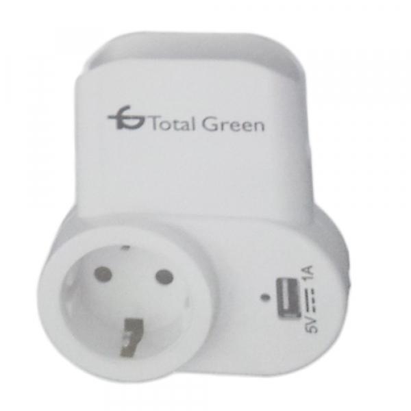 INCARCATOR USB+SUPORT TELEFON TOTAL GREEN 0