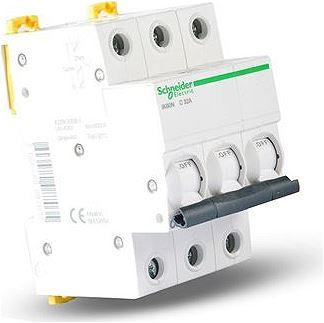 Intrerupator automat modular Schneider Electric iK60 A9K24325, 3P, 25A, curba C 1