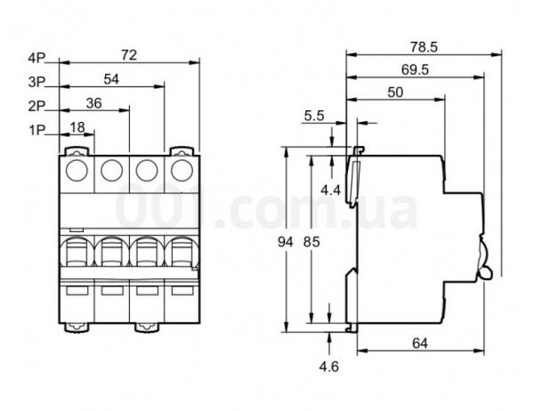 Intrerupator automat modular Schneider Electric iK60 A9K24325, 3P, 25A, curba C 0