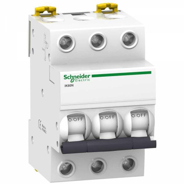 Intrerupator automat modular Schneider Electric iK60 A9K24340, 3P, 40A, curba C 0