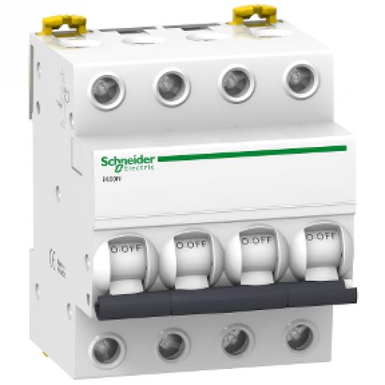 Intrerupator automat modular Schneider Electric iK60 A9K24410, 4P, 10A, curba C 0