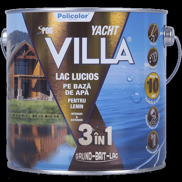 Lac pentru lemn Spor Villa Yacht, stejar, pe baza de apa, interior / exterior, 2.5 L 0
