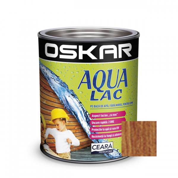 Lac pentru lemn Oskar Aqua Lac, alun, pe baza de apa, interior / exterior, 2.5 L 0