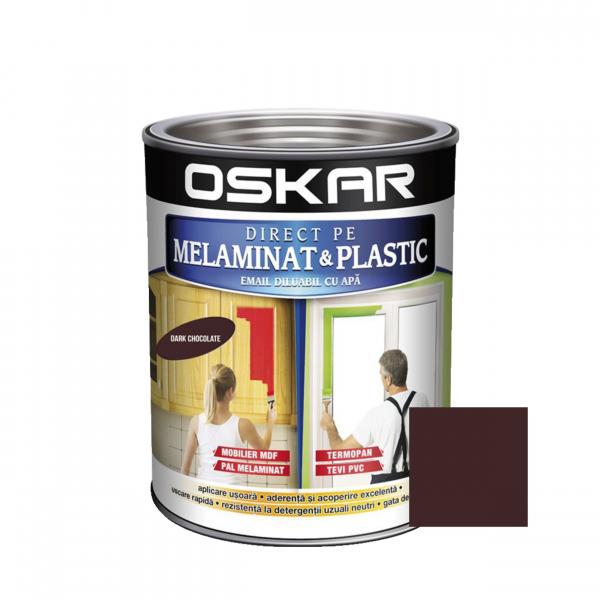 Vopsea Direct pe melaminat si plastic Oskar, interior / exterior, diluabila cu apa, ciocolatie, 0.6 L 0