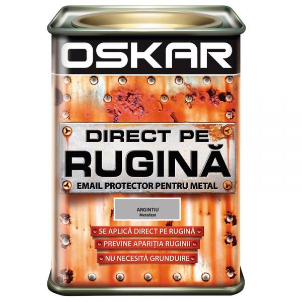 Vopsea alchidica Direct pe rugina Oskar, interior / exterior, ARGINTIU, 0.5 L 0