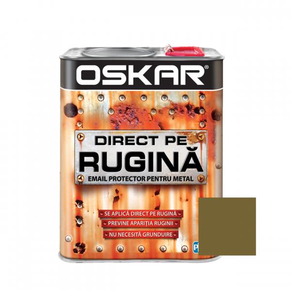 Vopsea alchidica Direct pe rugina Oskar, interior / exterior, aurie metalizata, 2.5 L 0