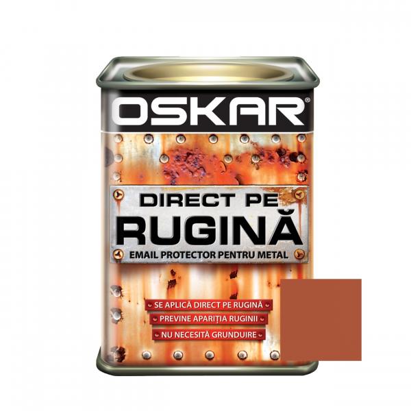 Vopsea alchidica Direct pe rugina Oskar, interior / exterior, cupru metalizat, 0.5 L 0