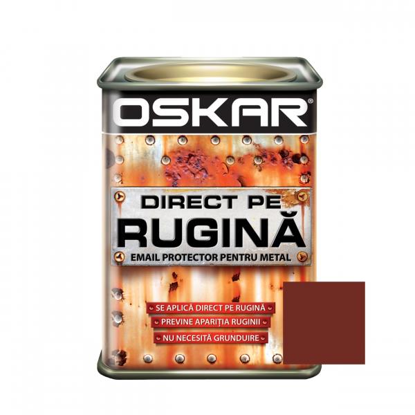 Vopsea alchidica Direct pe rugina Oskar, interior / exterior, maro - roscat - lucioasa , 0.5 L 0