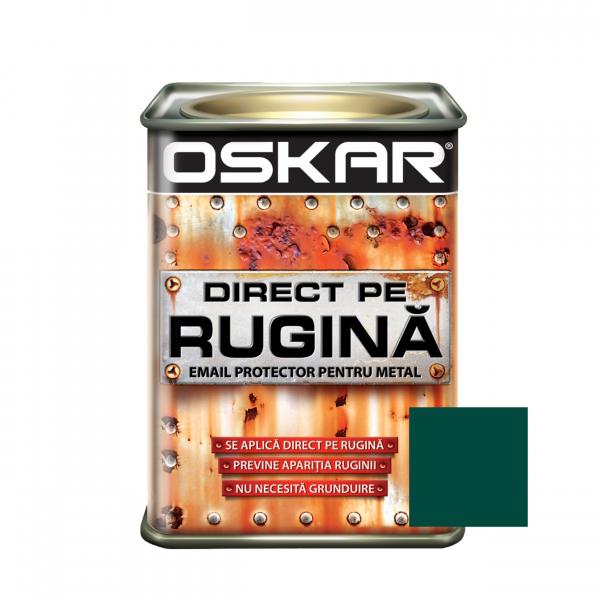 Vopsea alchidica Direct pe rugina Oskar, interior / exterior, verde inchis - lucios, 0.5 L 0