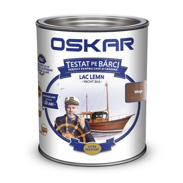 Lac pentru lemn Oskar Yacht, wenge, interior / exterior, 2.5 L 0