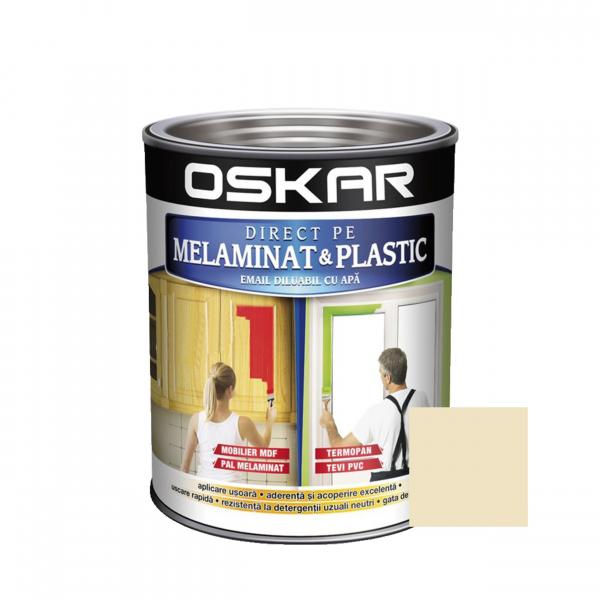 Vopsea Direct pe melaminat si plastic Oskar, interior / exterior, diluabila cu apa, TIRAMISU, 0.6 L 0