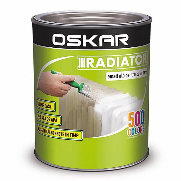 Email Oskar pentru calorifere, culoare alb, 0.5 l 0