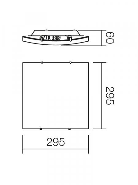 PLAFONIERA SHAKE 2X42W 05-812 1