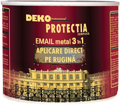 Vopsea alchidica pentru metal, Protecta 3 in 1, interior / exterior, alb, 0.5 L [0]