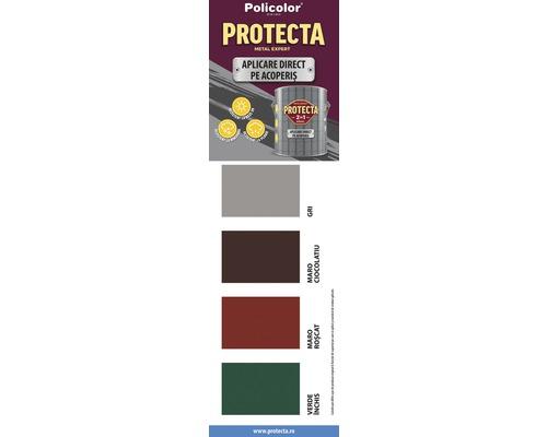 Vopsea alchidica Protecta 2 in 1, aplicare direct pe acoperis, maro ciocolatiu, 4 L 0