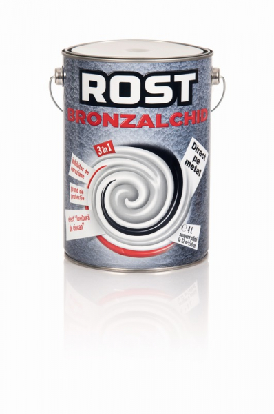 Bronzalchid direct pe metal, 3 in 1 Rost, 4 l, culoare argintiu, aspect lovitura de ciocan [0]