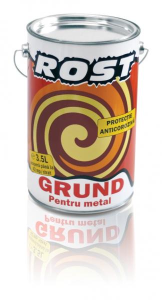 Grund pentru metal Rost, interior / exterior, rosu oxid, 3.5 L 1