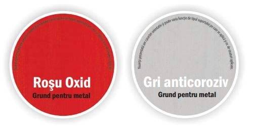 Grund pentru metal Rost, interior / exterior, rosu oxid, 3.5 L 2