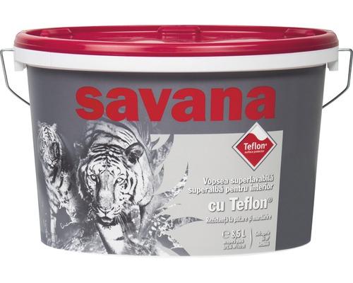 Vopsea superlavabila alba pentru interior Savana cu Teflon 8,5 l 0