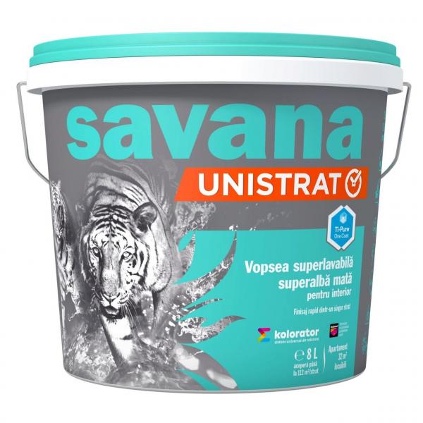 SAVANA UNISTRAT VOPSEA SUPERLAVABILA SUPERALBA MATA INTERIOR 8L [0]