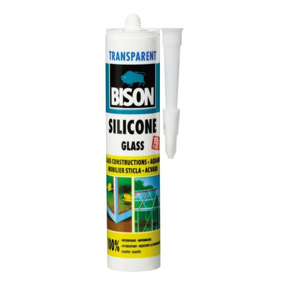 SILICON STICLA TRANSPARENT 280ml BISON 0
