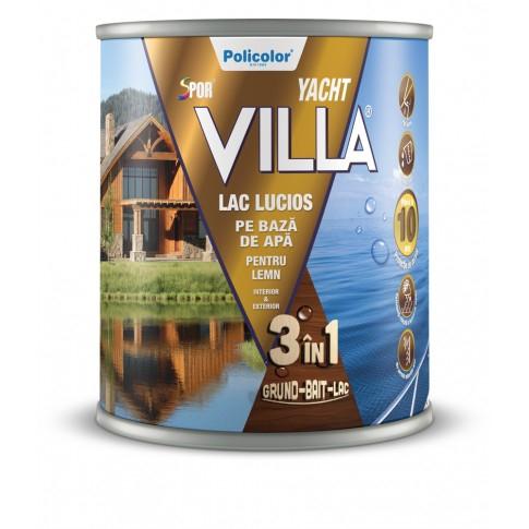 Lac pentru lemn Spor Villa Yacht, MAHON, pe baza de apa, interior / exterior, 0.75 L 3IN1 0