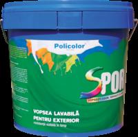 Vopsea lavabila exterior Spor, alba, 15 L 0