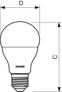 BEC LED 75W E27 PHILIPS1
