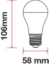 BEC LED 7W/9W E27 ELBI [1]
