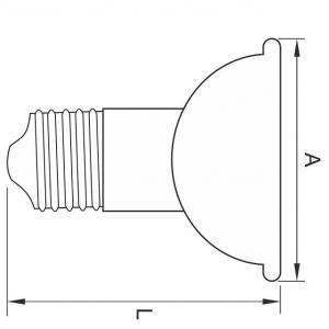 BEC LED JDR SPOT, E27, 10W, 50000 ORE, LUMINA RECE1