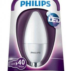 Bec LED Philips - LEDcandle 6W E14 230V B39 alb-cald [1]