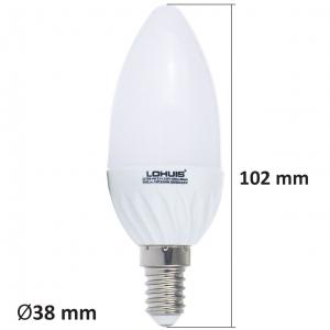 BEC LED LOHUIS,LUMANARE, E14, 4W, 30000 ORE, LUMINA RECE1
