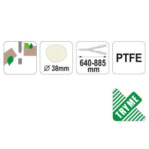 FOARFECE CURBAT PENTRU POMI 640-885MM2