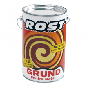Grund protector pentru metal Rost, 3.5 l, culoare gri [0]