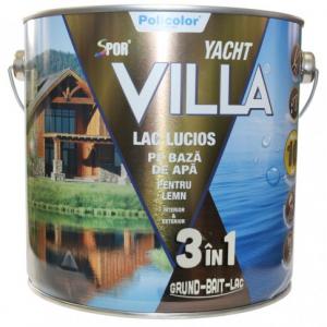 Lac pentru lemn Spor Villa Yacht, INCOLOR, pe baza de apa, interior / exterior, 2.5 L 3IN1 [0]