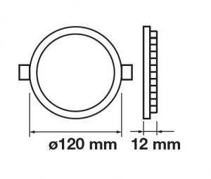 SPOT CU LED ROTUND 12W1