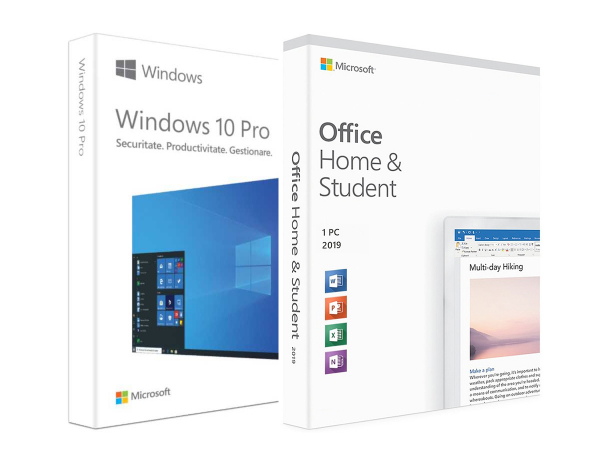 Pachet basic: Windows 10 Pro + Office Home and Student 2019 0