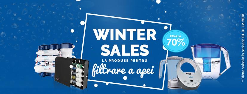 Winter Sales la Aquline - reduceri de iarna la filtre casnice si accesorii