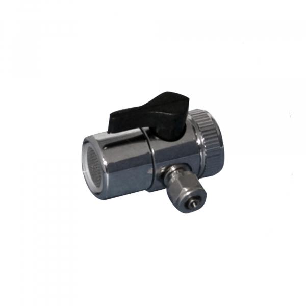 Adaptor pentru robinet, din alama cromata cu supapa BY-PASS pentru filtrele din seria FHCTF. 0