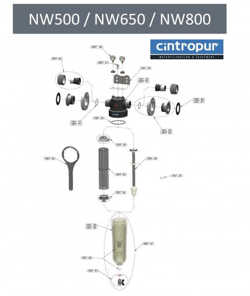 Capac Inferior fixare manson NW 500/650/800 (FWZCDNW568) 2