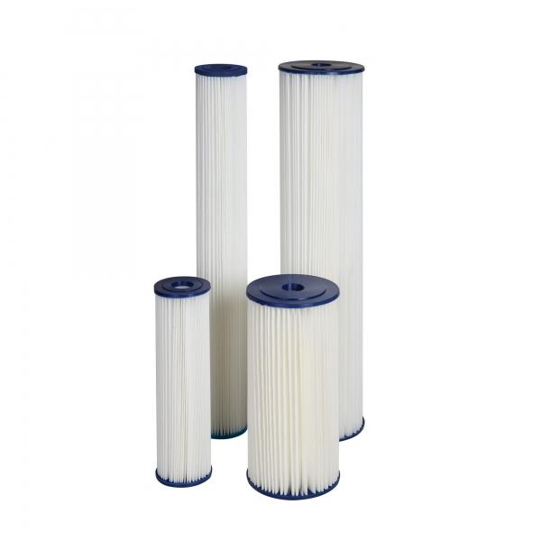 "Cartus filtrant lavabil din poliester plisat 10"" Aquafilter 1"