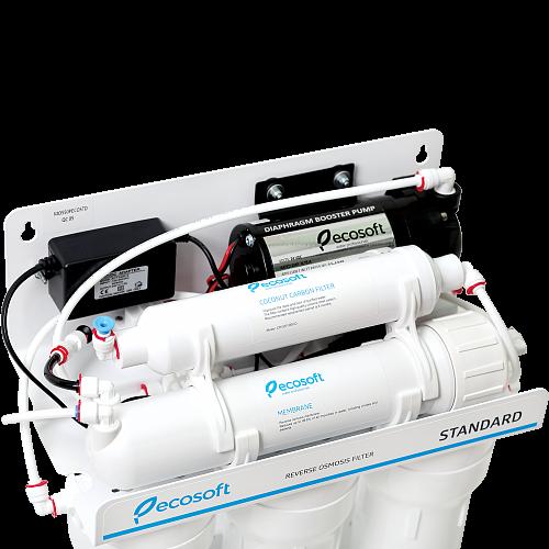 Purificator apa cu osmoza inversa Ecosoft in 6 trepte si pompa booster 5