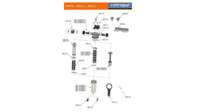 Sistem de filtrare duplex Cintropur NW25 DUO-CTN [6]