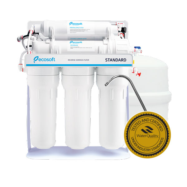 Purificator apa cu osmoza inversa Ecosoft in 6 trepte si pompa booster imagine aqualine.ro