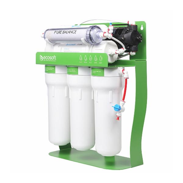 Purificator cu osmoza inversa cu pompa booster  si cadru metalic Ecosoft P'URE Balance 2