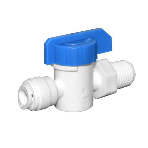 """Robinet de trecere Aquafilter cu bila conexiuni 1/4""""  quick - 1/4"""" FE AQ-SEWBV1414-PP 0"""