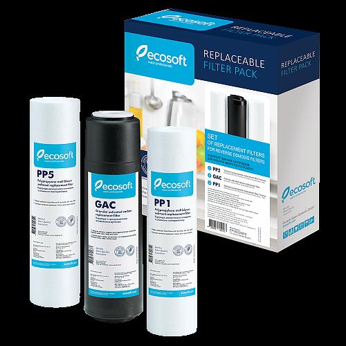 Set filtre de schimb standard Ecosoft 1-2-3 pentru sisteme de filtrare 1