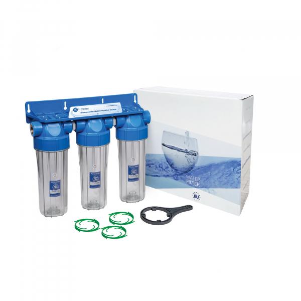 "Sistem de filtrare Triplex 10"" in 3 etape Aquafilter FHPRCLx-B-TRIPLE 0"